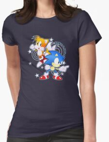 Classic Sonic and Tails 25th Anniversary Style Womens Fitted T-Shirt