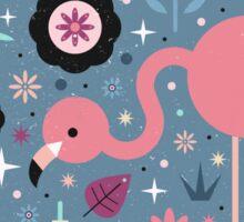 Flamingo & Chick  Sticker