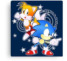 Classic Sonic and Tails 25th Anniversary Style Canvas Print