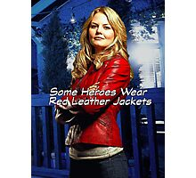 """Some Heroes Wear Red Leather Jackets"" Photographic Print"