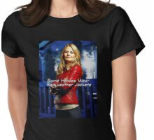 """""""Some Heroes Wear Red Leather Jackets"""" Womens Fitted T-Shirt"""