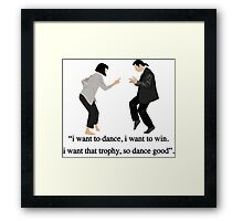 Pulp Fiction - I Want to Dance Framed Print