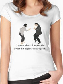 Pulp Fiction - I Want to Dance Women's Fitted Scoop T-Shirt