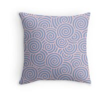 Swirls & Spirals | Abstract Waves | Rose Quartz & Serenity | Pantone Colors of the Year 2016 Throw Pillow