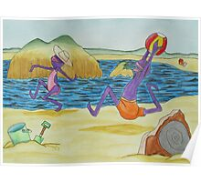 Purple People Eaters at the Lake Poster