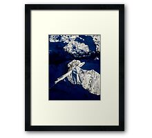Aerial Winter Peak Framed Print