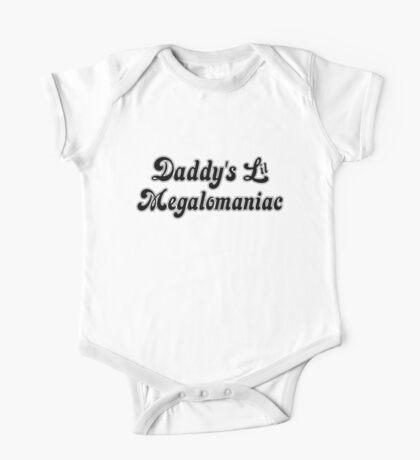 Daddy's Lil Megalomaniac One Piece - Short Sleeve