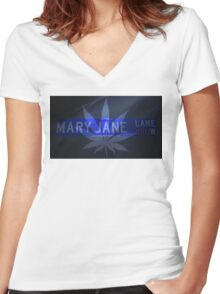 Mary Jane - Cool Women's Fitted V-Neck T-Shirt