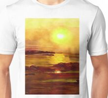 Yellow and Orange Sea Art Unisex T-Shirt