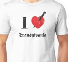 I love Transylvania (black eroded font) Unisex T-Shirt