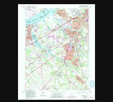 USGS TOPO Map New Jersey NJ Woodbury 255008 1967 24000 Unisex T-Shirt