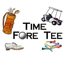 Golfing Time Fore Tee Photographic Print