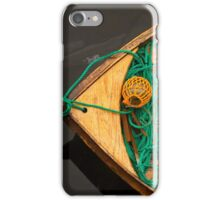 Fisherman boat with ropes and float. Norway. iPhone Case/Skin