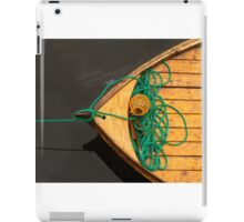 Fisherman boat with ropes and float. Norway. iPad Case/Skin