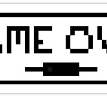 "Video Game ""Game Over"" Graphic Sticker"