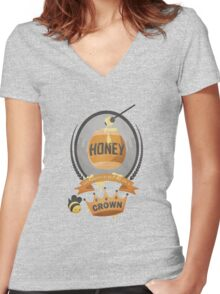 Honey, You Should See Me In A Crown. Women's Fitted V-Neck T-Shirt
