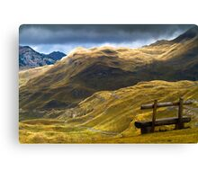 Mountains in autumn. Canvas Print
