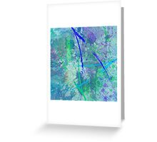Aquatic Abstract - In Green And Blue Greeting Card