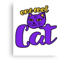 One Cool Cat Canvas Print
