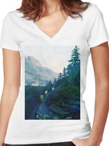 Heritage Art Series - Jade Women's Fitted V-Neck T-Shirt