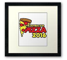 I'm voting for PIZZA 2016 Framed Print