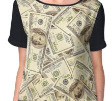 ALL ABOUT THE BENJAMINS Chiffon Top