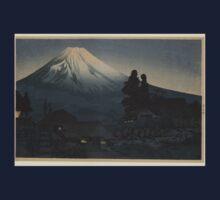 Japanese Print:  Fuji at Night Baby Tee