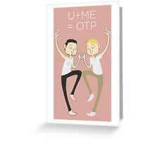 U+ME=OTP TONYxSTEVE Greeting Card