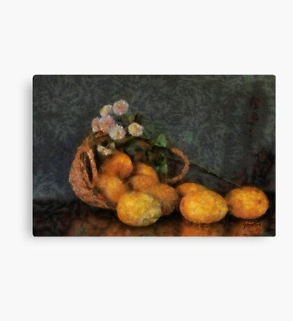 Mango Basket Canvas Print