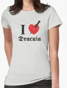 I love (to kill) Dracula (black font eroded) Womens Fitted T-Shirt