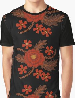 Red Peony Graphic T-Shirt