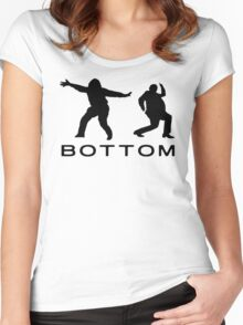 bottom 2 Women's Fitted Scoop T-Shirt