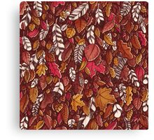 Leaves color red Canvas Print