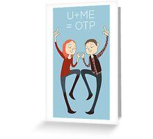 U+ME=OTP AMYxRORY Greeting Card