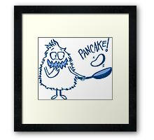 Monster Pancake Framed Print