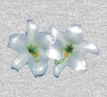 WHITE LILIES One Piece - Long Sleeve