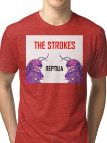 Reptilia Lizard Graphic  [The Strokes] Tri-blend T-Shirt