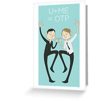 U+ME=OTP MORMOR Greeting Card