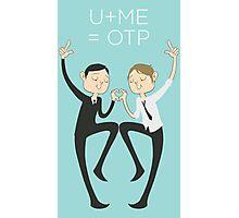 U+ME=OTP MORMOR Photographic Print