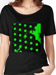 abstract polka dots green Women's Relaxed Fit T-Shirt