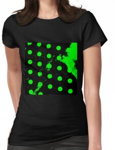 abstract polka dots green Womens Fitted T-Shirt