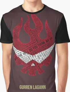 Gurren Lagann typography Graphic T-Shirt