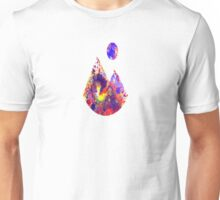 Primary Landscape - Abstract Geometric Art In Primary Colours, Red, Blue And Yellow Unisex T-Shirt