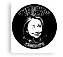 Hillary Thieves Guild Leader Canvas Print