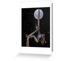 Lunar Yoga Greeting Card