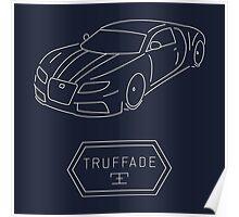 GTA V - Adder Outline (White) Poster