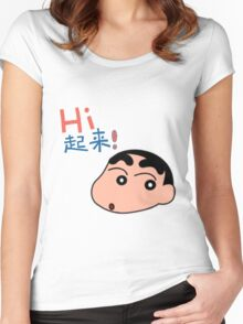 Shinchan Women's Fitted Scoop T-Shirt