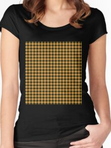 Oppa Gingham Style Women's Fitted Scoop T-Shirt