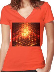 Pompeii Women's Fitted V-Neck T-Shirt