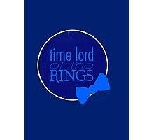 Time Lord of the Rings Photographic Print